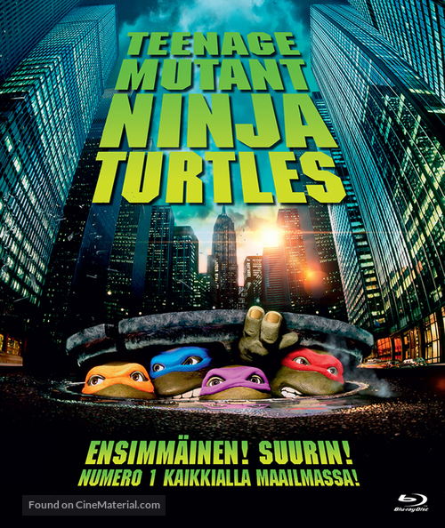 Teenage Mutant Ninja Turtles - Finnish Blu-Ray cover