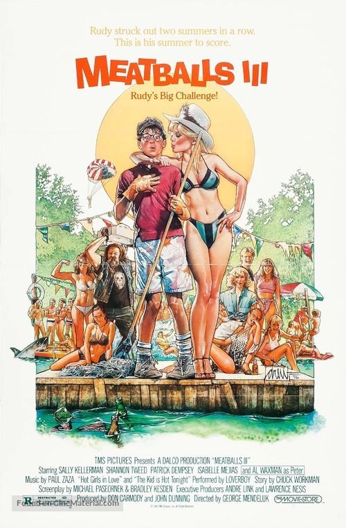 Meatballs III: Summer Job - Movie Poster