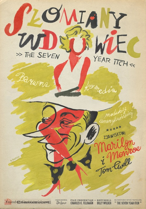 The Seven Year Itch - Polish Movie Poster
