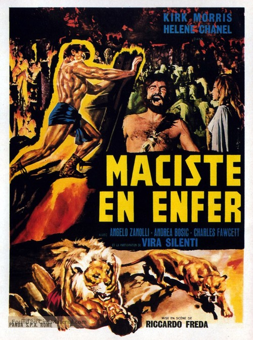 Maciste all'inferno - French Movie Poster