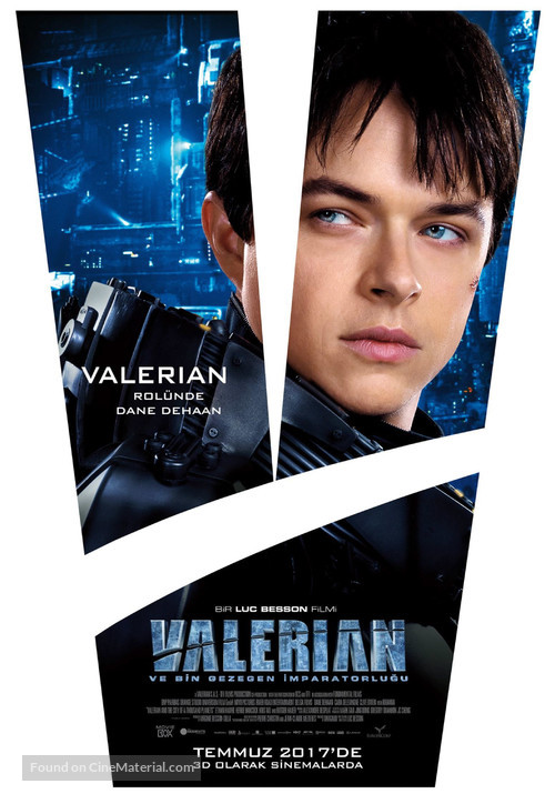 Valerian and the City of a Thousand Planets - Turkish Movie Poster