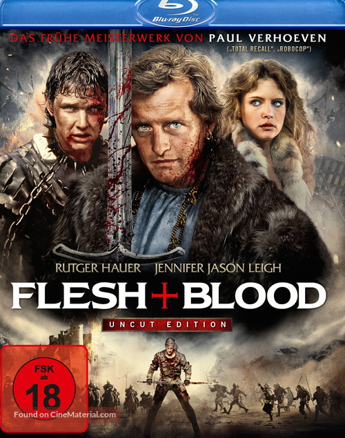 Flesh And Blood - German Movie Cover