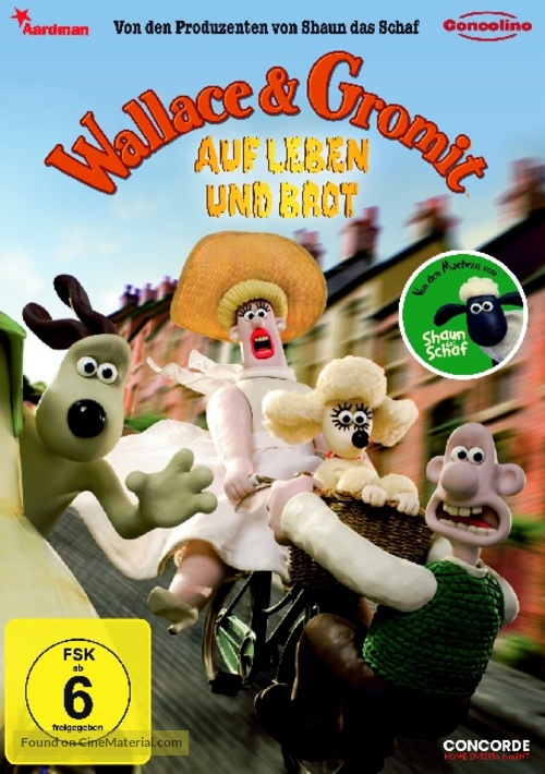 Wallace and Gromit in 'A Matter of Loaf and Death' - German Movie Cover