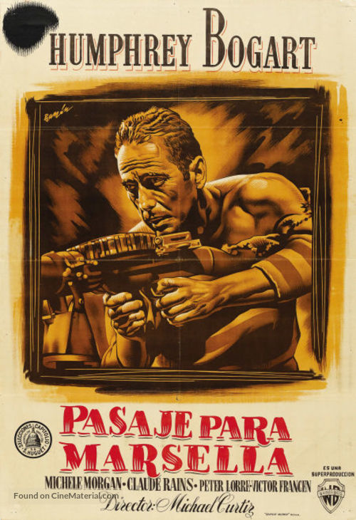 Passage to Marseille - Spanish Movie Poster
