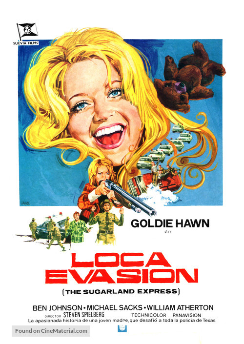 The Sugarland Express - Spanish Movie Poster