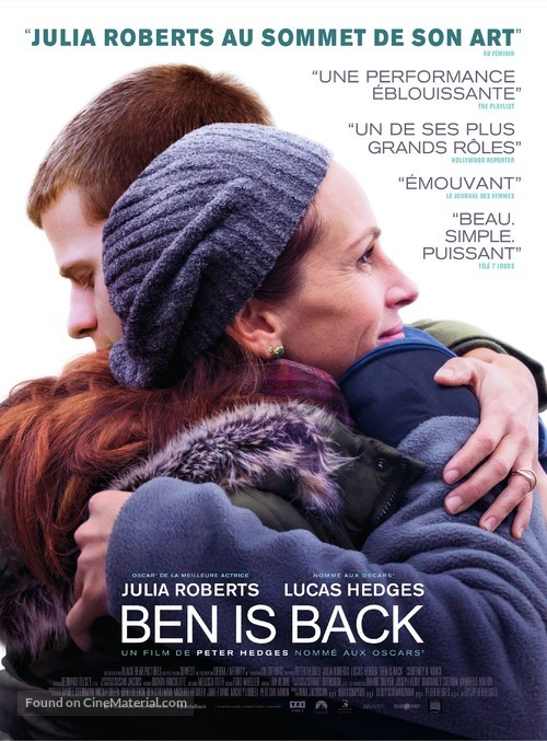 Ben Is Back - French Movie Poster