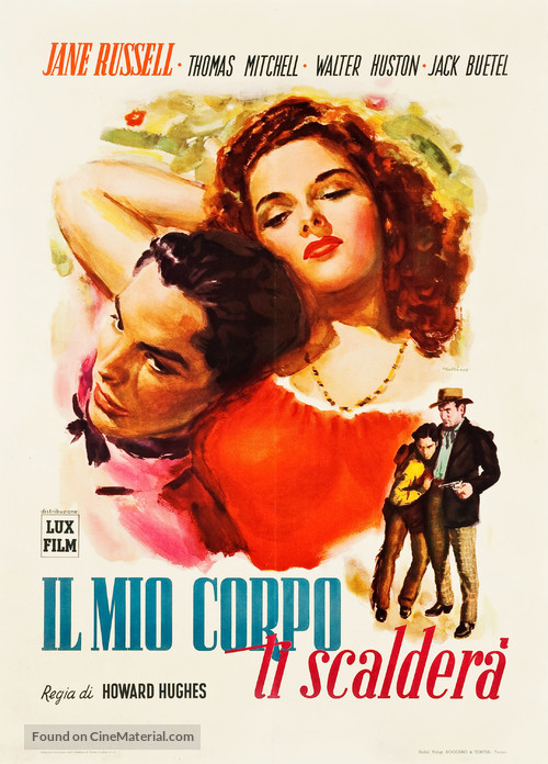 The Outlaw - Italian Movie Poster
