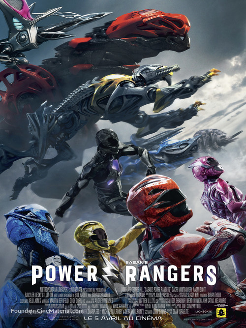 Power Rangers - French Movie Poster