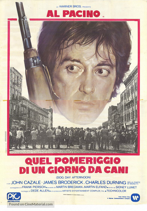 Dog Day Afternoon - Italian Movie Poster