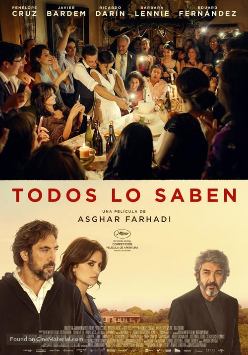 Todos lo saben - Spanish Movie Poster