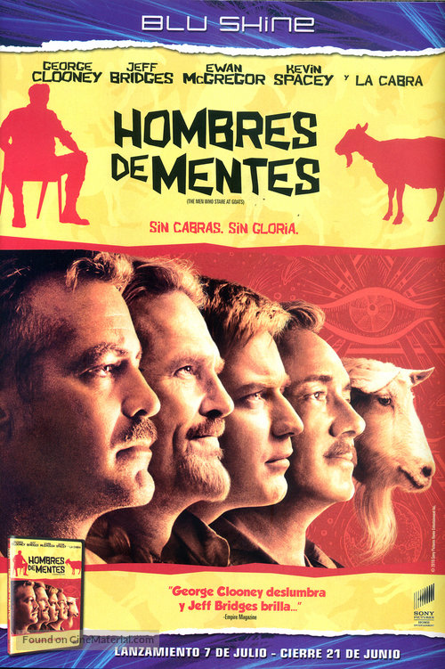 The Men Who Stare at Goats - Argentinian DVD cover