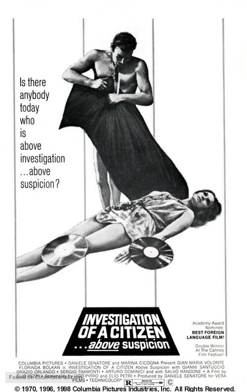 Indagine su un cittadino al di sopra di ogni sospetto - Movie Poster