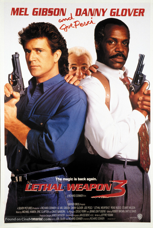 Lethal Weapon 3 - Movie Poster