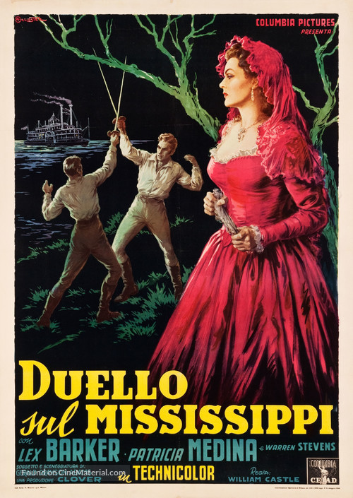 Duel on the Mississippi - Italian Movie Poster