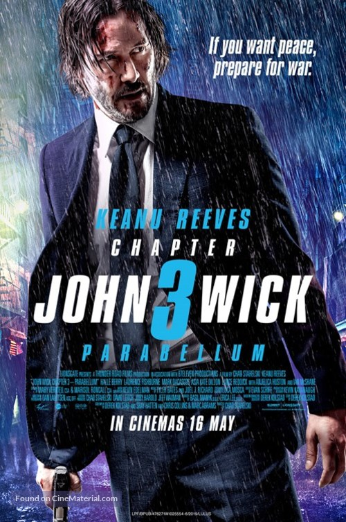 John Wick: Chapter 3 - Parabellum - Malaysian Movie Poster