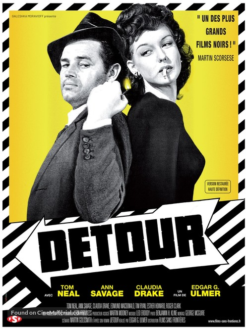 Detour - French Re-release movie poster