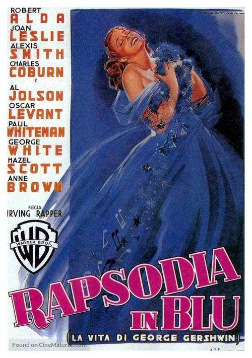 Rhapsody in Blue - Italian Movie Poster