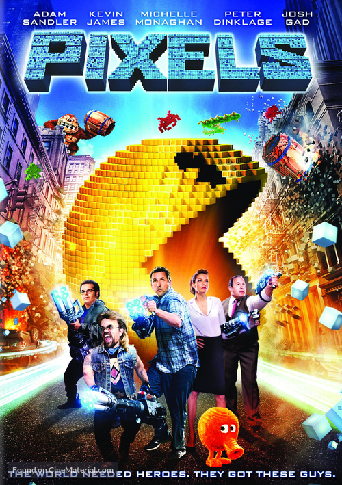 Pixels - DVD movie cover