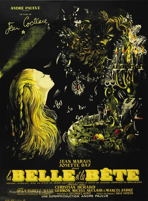La belle et la bête - French Theatrical poster