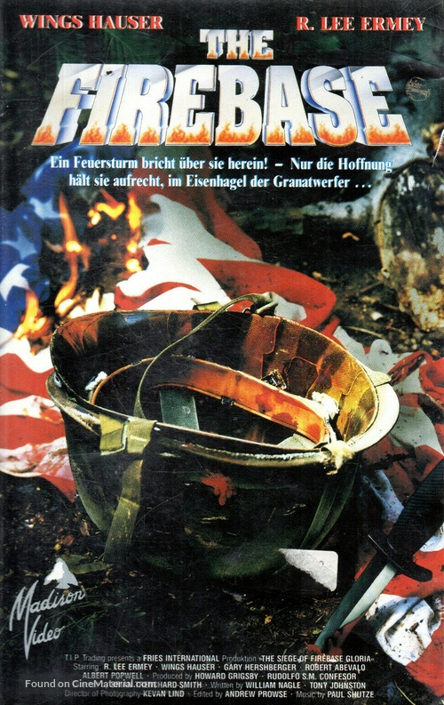 The Siege of Firebase Gloria - German VHS movie cover