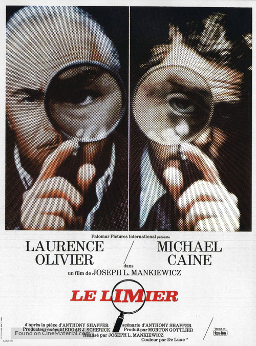 Sleuth - French Movie Poster