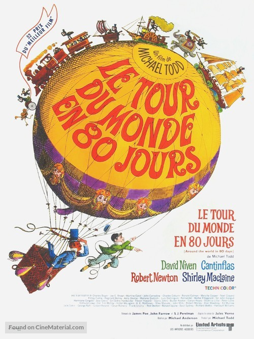 Around the World in Eighty Days - French Movie Poster