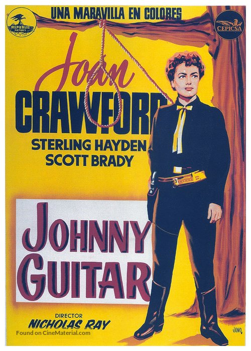Johnny Guitar - Spanish Movie Poster
