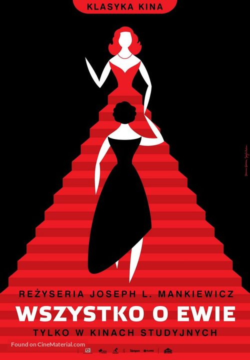 All About Eve - Polish Re-release movie poster