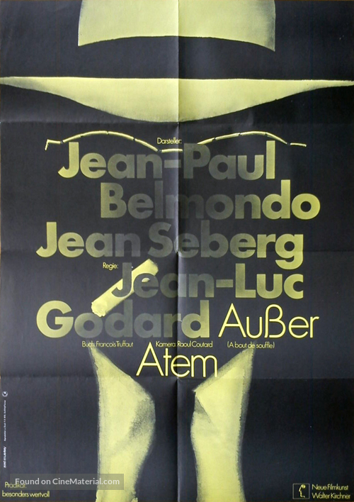 À bout de souffle - German Movie Poster