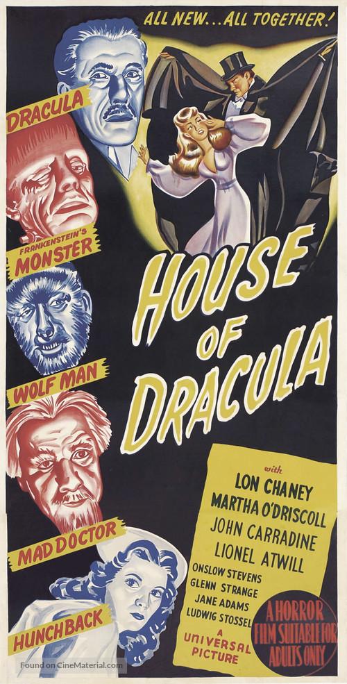 House of Dracula - Australian Movie Poster