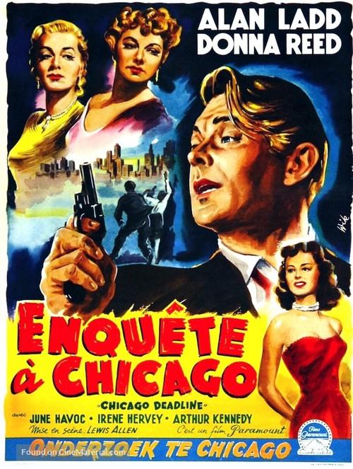 Chicago Deadline - Belgian Movie Poster