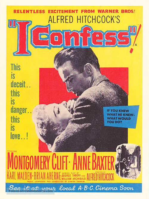I Confess - Movie Poster