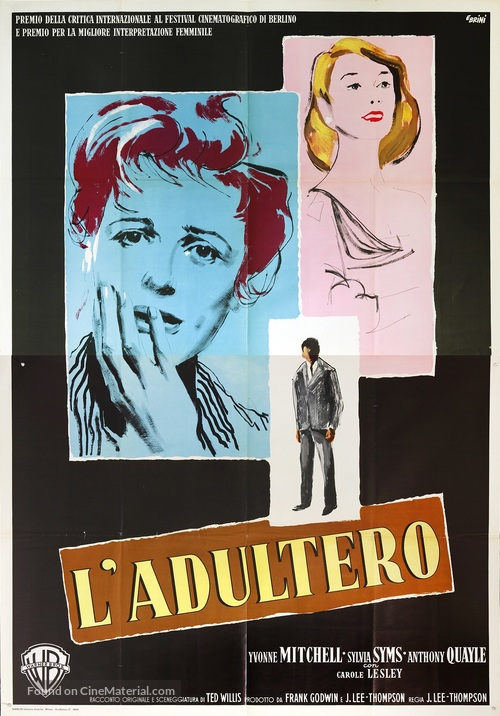 Woman in a Dressing Gown Italian movie poster