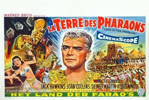 Land of the Pharaohs - Belgian Movie Poster