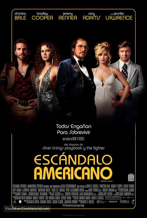 American Hustle - Mexican Movie Poster