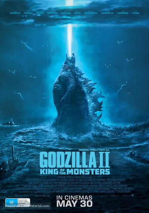 Godzilla: King of the Monsters - Australian Movie Poster