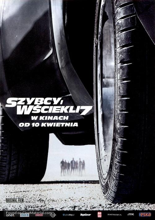 Furious 7 - Polish Movie Poster