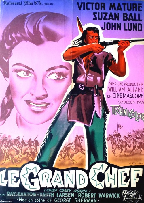 Chief Crazy Horse French Movie Poster