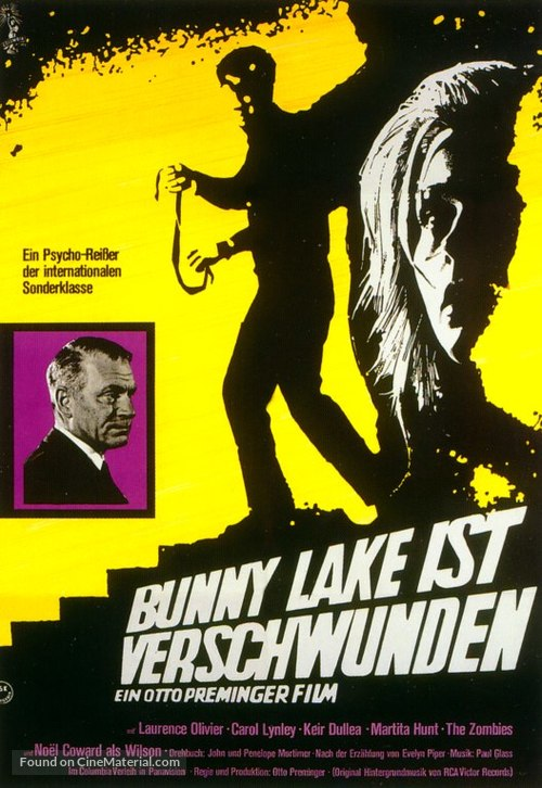 Bunny Lake Is Missing - German Movie Poster