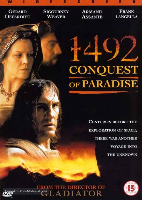 1492: Conquest of Paradise - British DVD movie cover