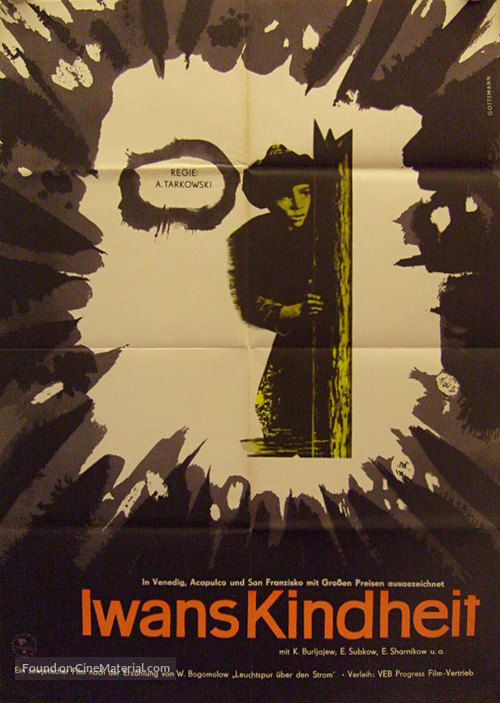 Ivanovo detstvo - German Movie Poster