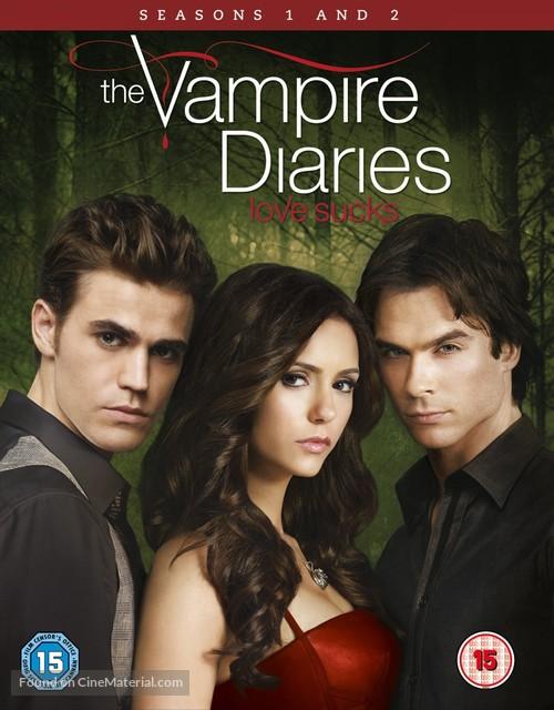 """""""The Vampire Diaries"""" - British Blu-Ray movie cover"""