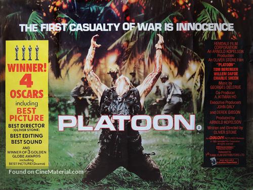 Platoon - British Movie Poster
