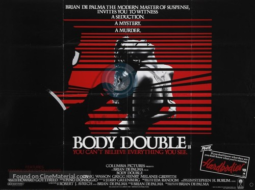 Body Double - British Movie Poster