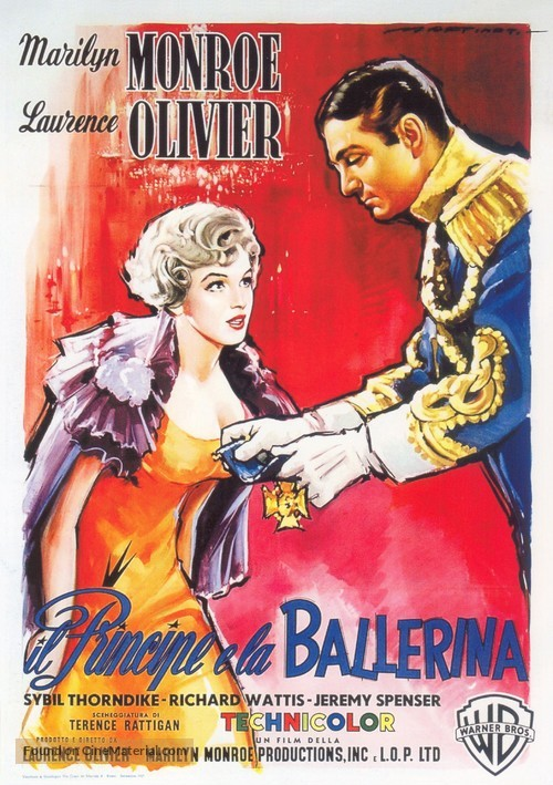 The Prince and the Showgirl - Italian Movie Poster