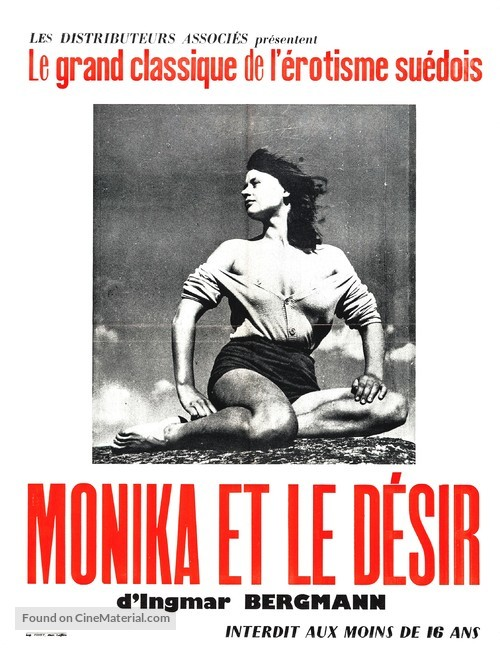 Sommaren med Monika - French Re-release movie poster