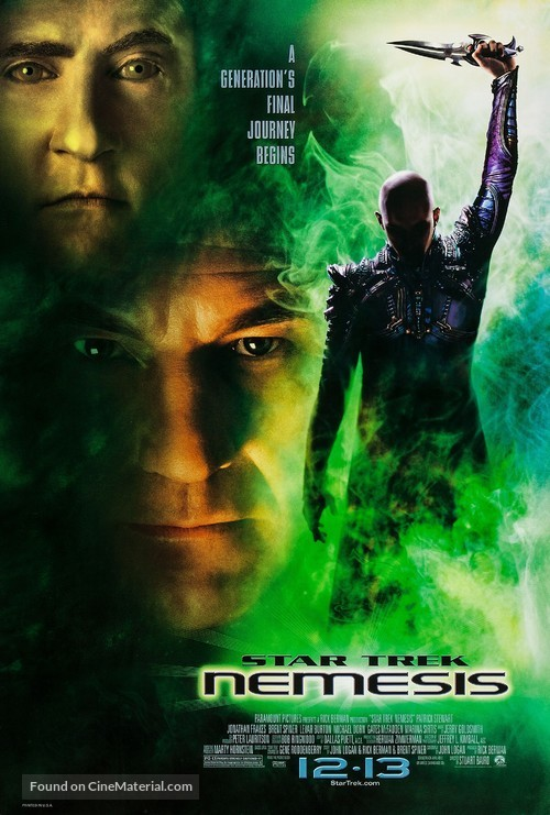 Star Trek: Nemesis - Advance poster