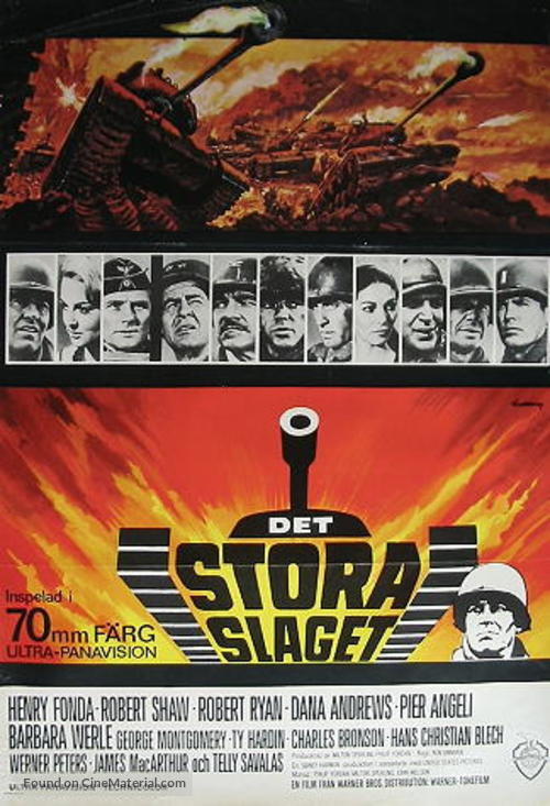 Battle of the Bulge - Swedish Movie Poster