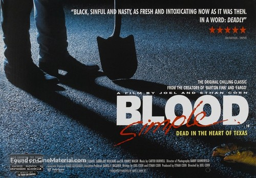 Blood Simple - British Movie Poster