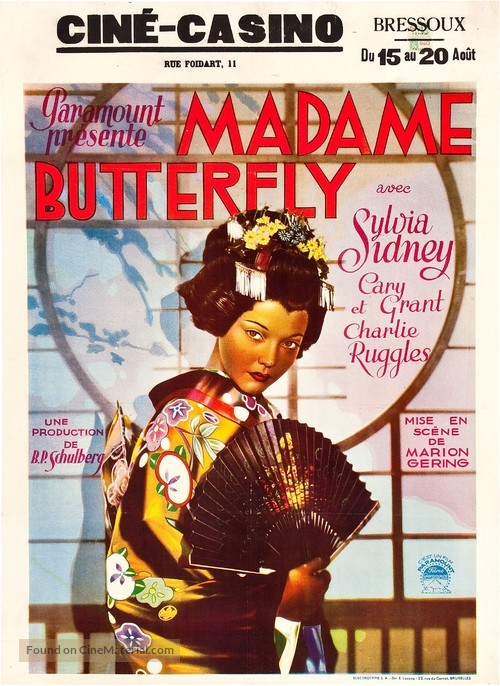 Madame Butterfly - Belgian Movie Poster